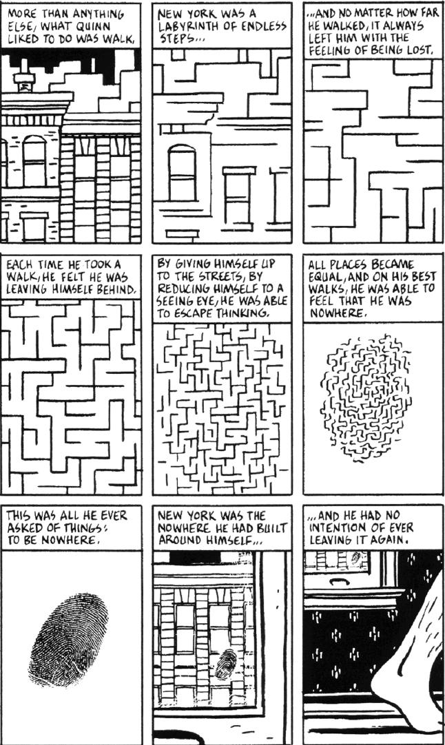 Percorrere la 'Città di vetro' di Paul Auster: Lo Spazio Urbano Postmoderno tra Romanzo e Graphic Novel